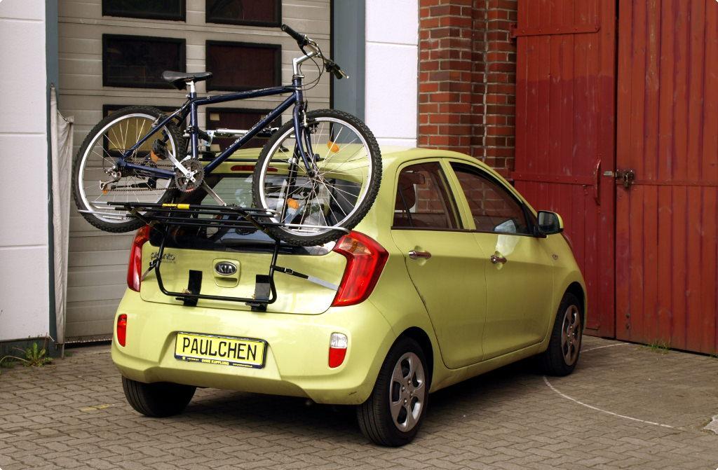 ab 2017 Fahrradträger Heckklappe für 2 Fahrräder Heckträger Kia Picanto Bj