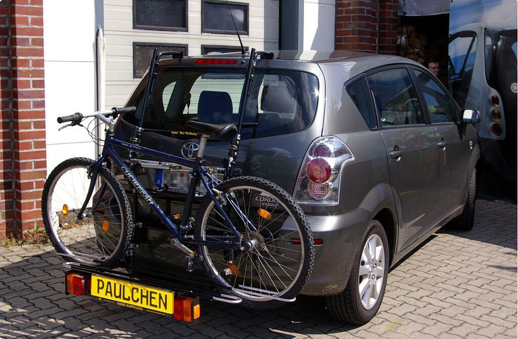 ab 2009 Fahrradträger Heckklappe für 3 Fahrräder Heckträger Toyota Verso Bj