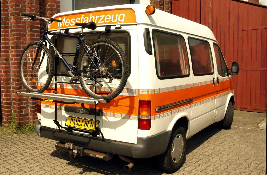 be6ed78cf5 Bicycle carrier for Ford Transit FT 100 - Paulchen Heckträger System ...