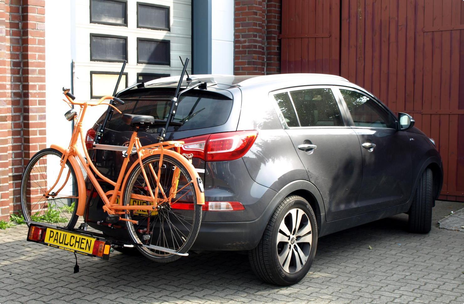 Hitch Bike Rack Reviews >> Bicycle carrier for Kia Sportage III (SL) - Paulchen Heckträger System | Fahrradträger