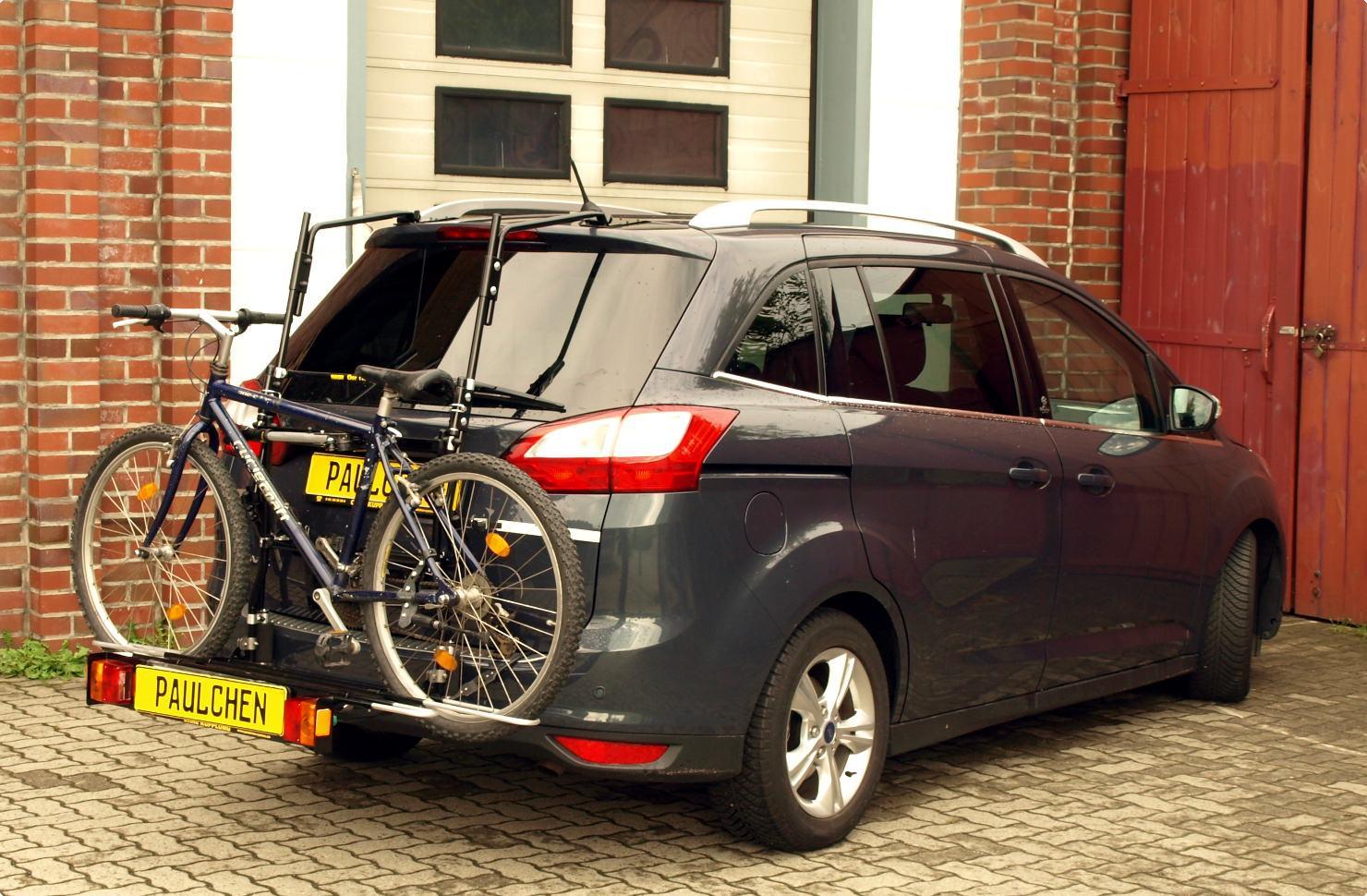 ford grand c-max bike rack - paulchen heck- und fahrradträger system