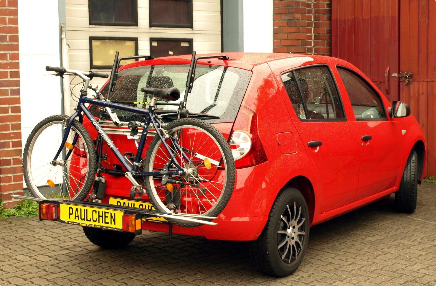 fahrradtr ger f r dacia sandero paulchen hecktr ger. Black Bedroom Furniture Sets. Home Design Ideas