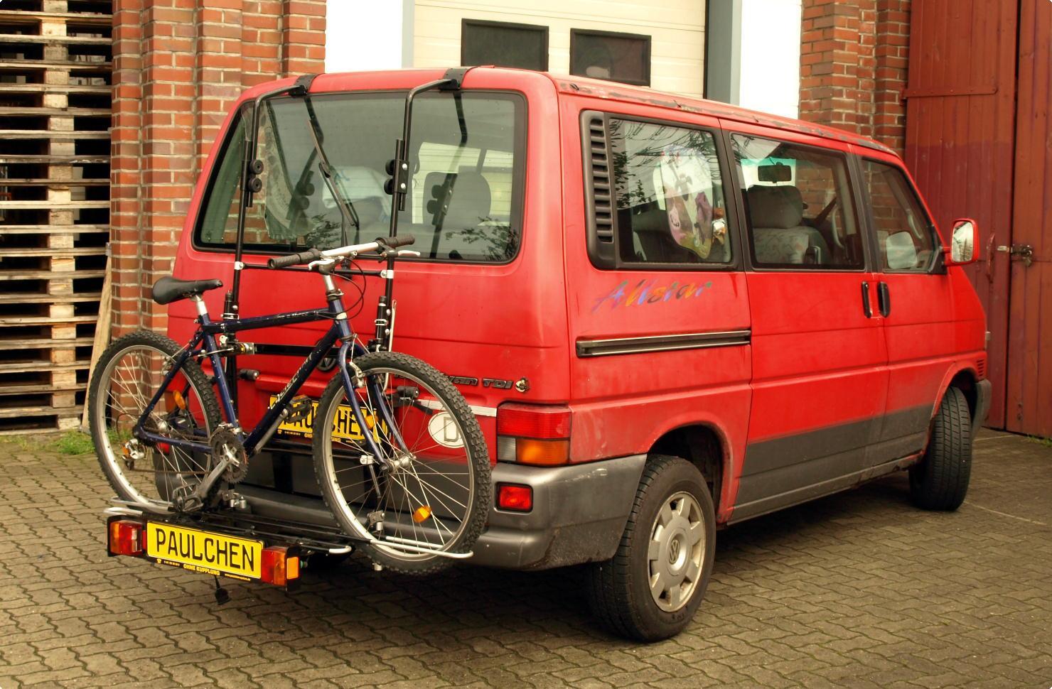 fahrradtr ger f r vw bus t4 paulchen hecktr ger system. Black Bedroom Furniture Sets. Home Design Ideas