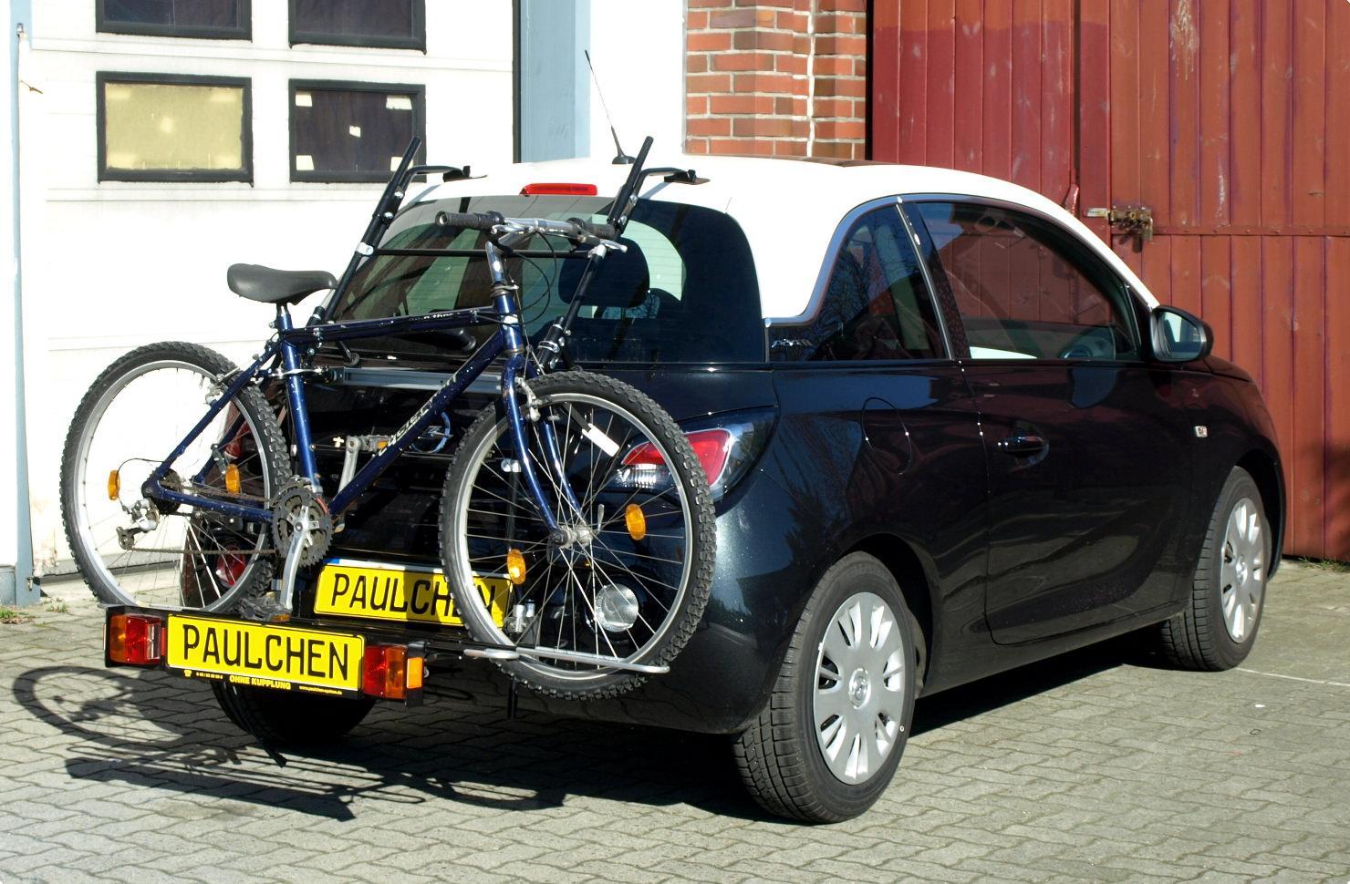 opel adam fahrradträger am heck - paulchen heckträger system