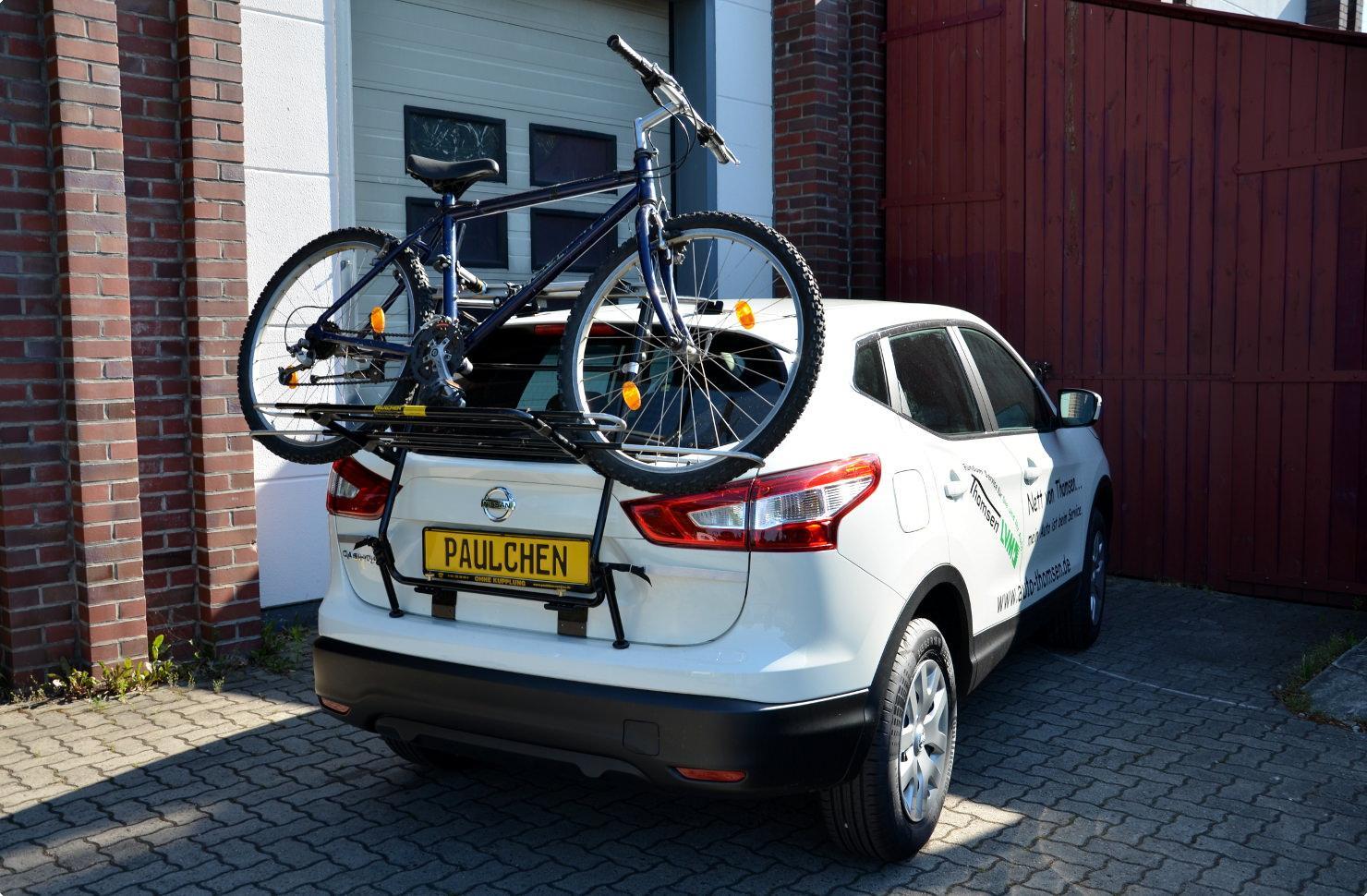fahrradträger für nissan qashqai (j11) - paulchen heckträger system
