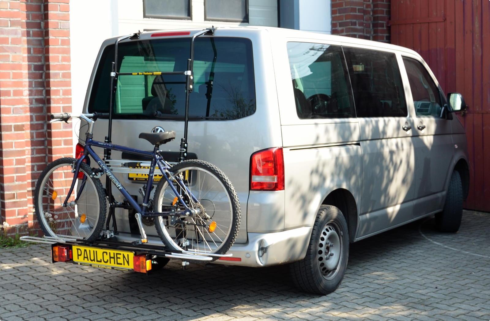bicycle carrier for vw bus t5 paulchen hecktr ger system. Black Bedroom Furniture Sets. Home Design Ideas