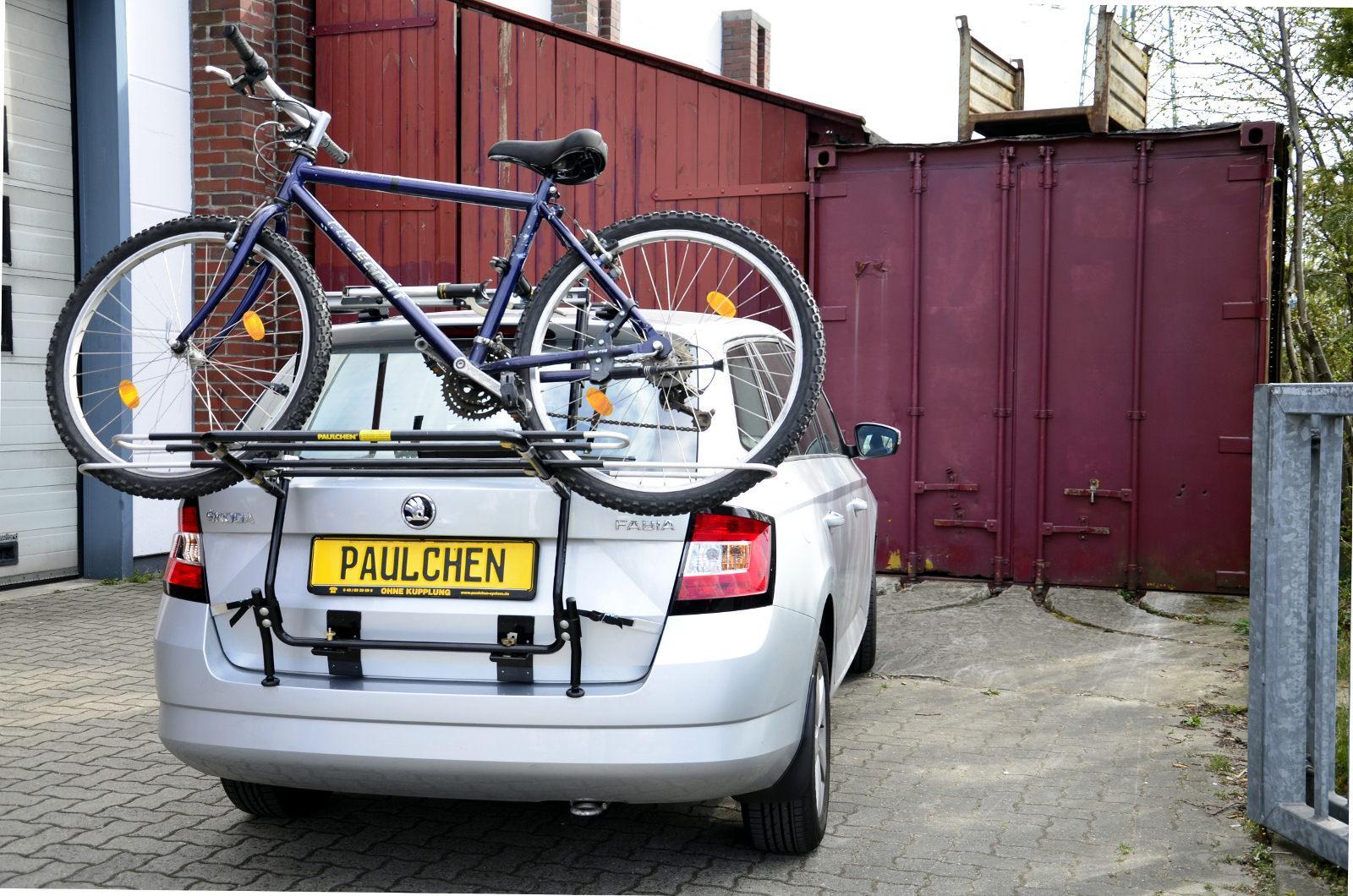 skoda fabia fahrradträger heckklappe