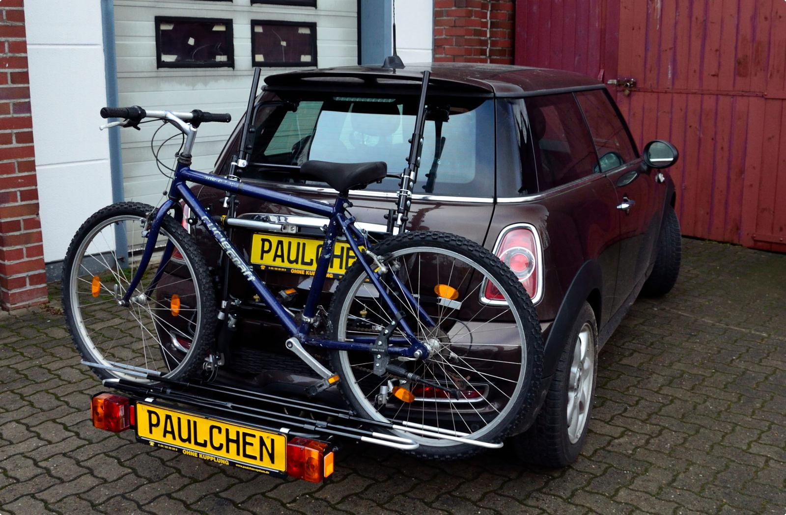 mini mini cooper s bike rack paulchen heck und. Black Bedroom Furniture Sets. Home Design Ideas