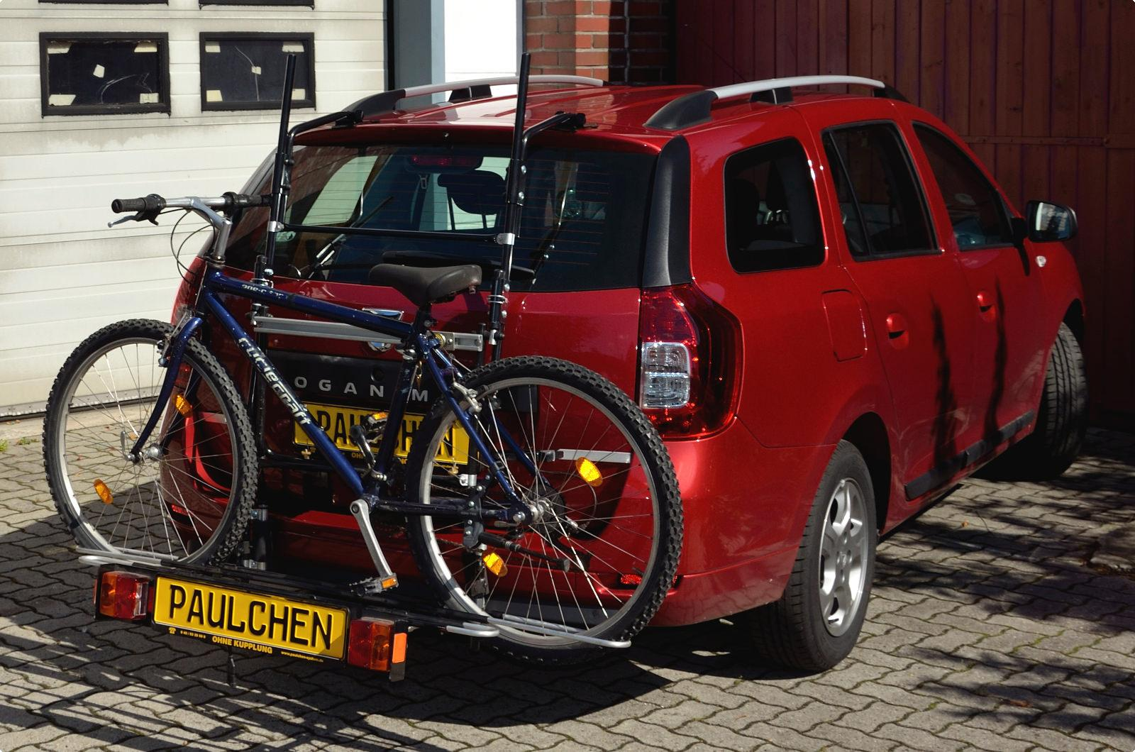 ab 2013 Fahrradträger Heckklappe für 3 Fahrräder Heckträger Dacia Logan MCV Bj
