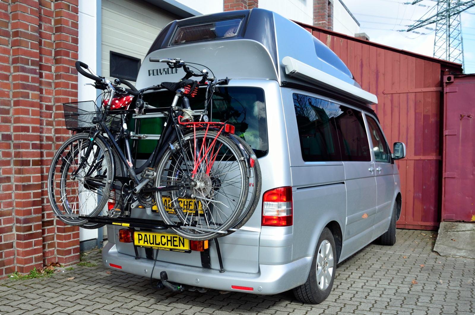 fahrradtr ger f r vw bus t5 paulchen hecktr ger system. Black Bedroom Furniture Sets. Home Design Ideas