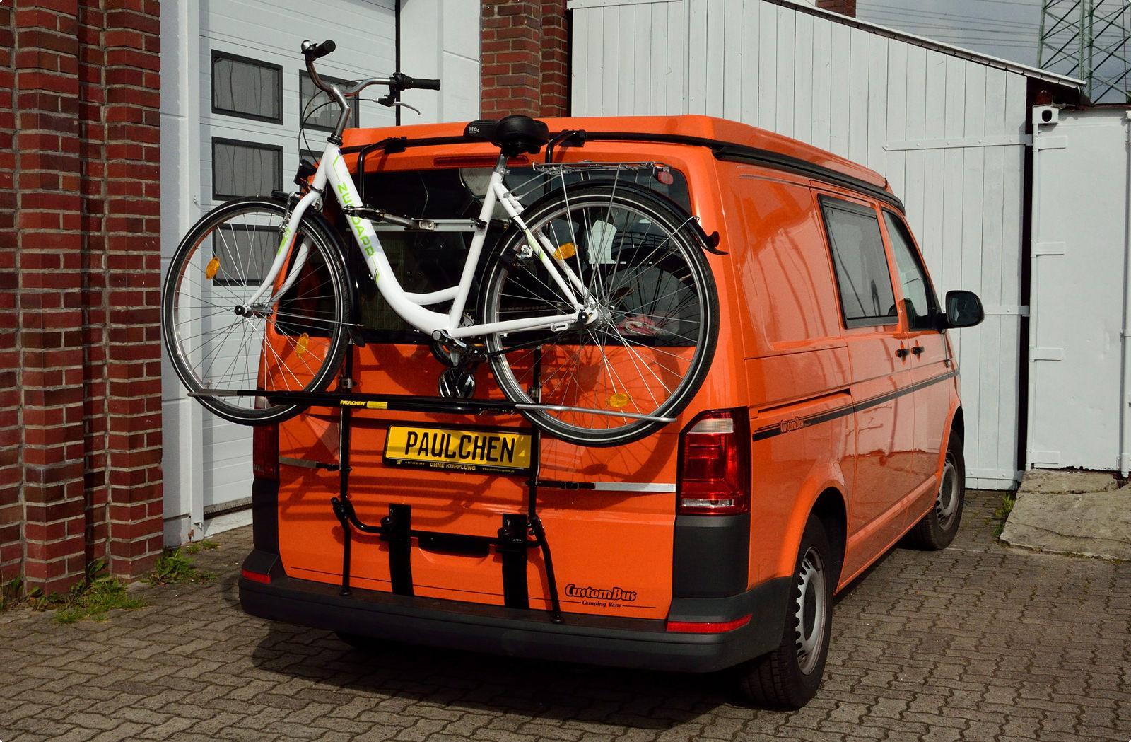 fahrradtr ger f r vw bus t6 paulchen hecktr ger system. Black Bedroom Furniture Sets. Home Design Ideas