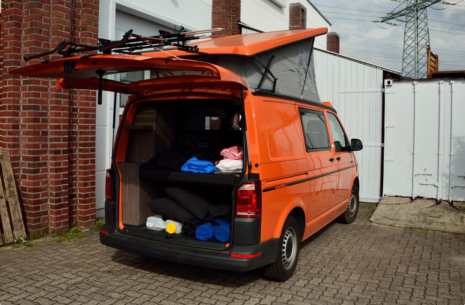 bicycle carrier for vw bus t6 paulchen hecktr ger system. Black Bedroom Furniture Sets. Home Design Ideas