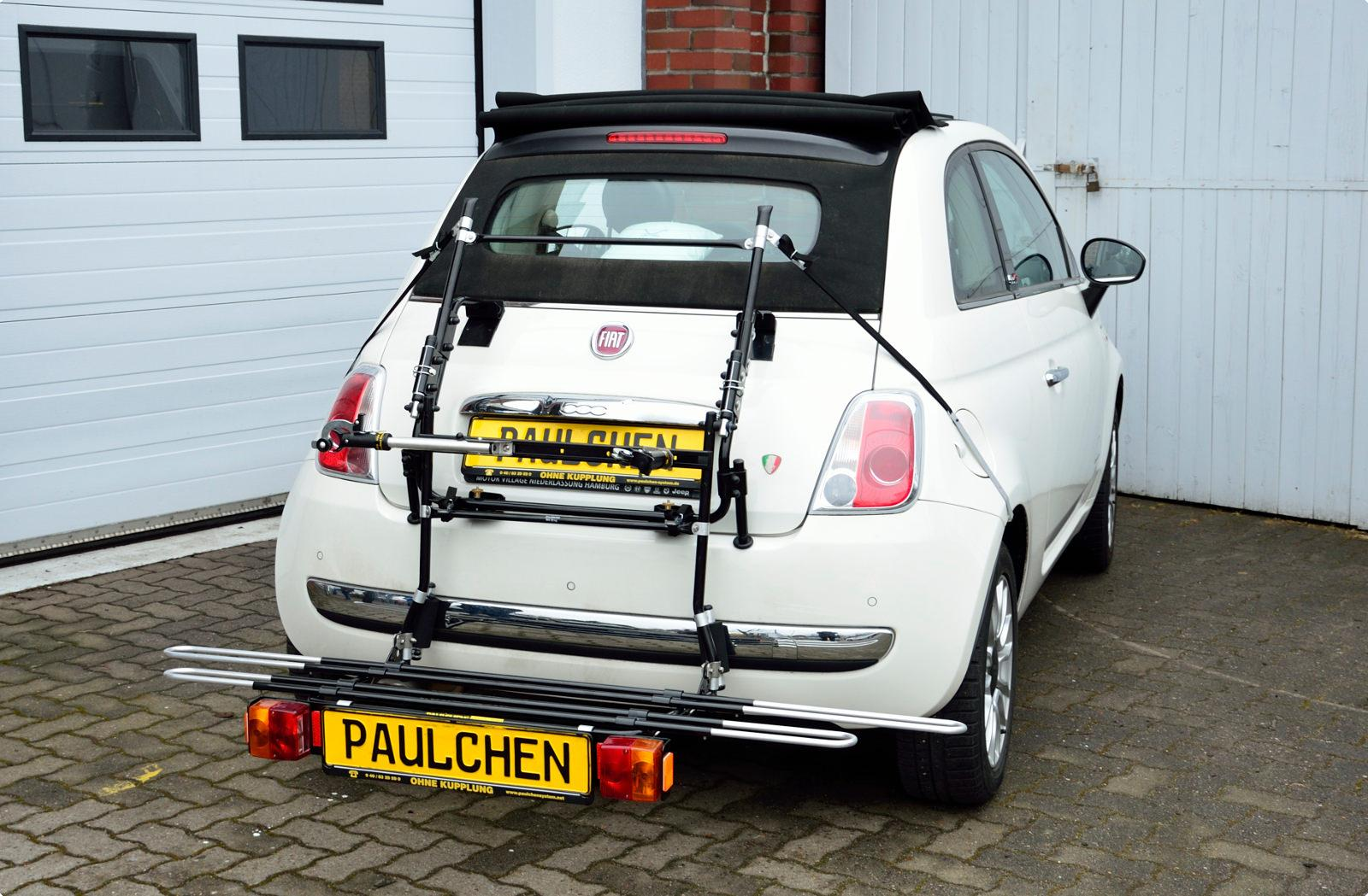 bicycle carrier for fiat 500 cabrio 312 paulchen. Black Bedroom Furniture Sets. Home Design Ideas