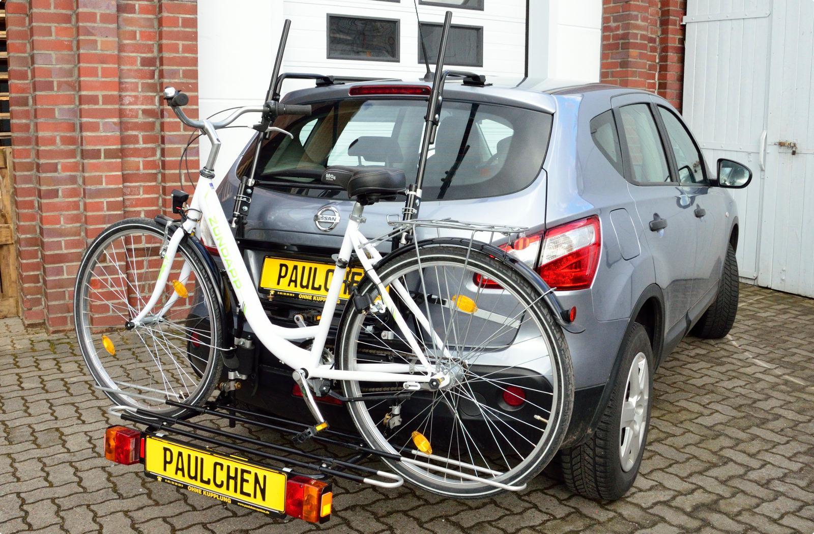 nissan qashqai facelift fahrradträger am heck - paulchen heckträger