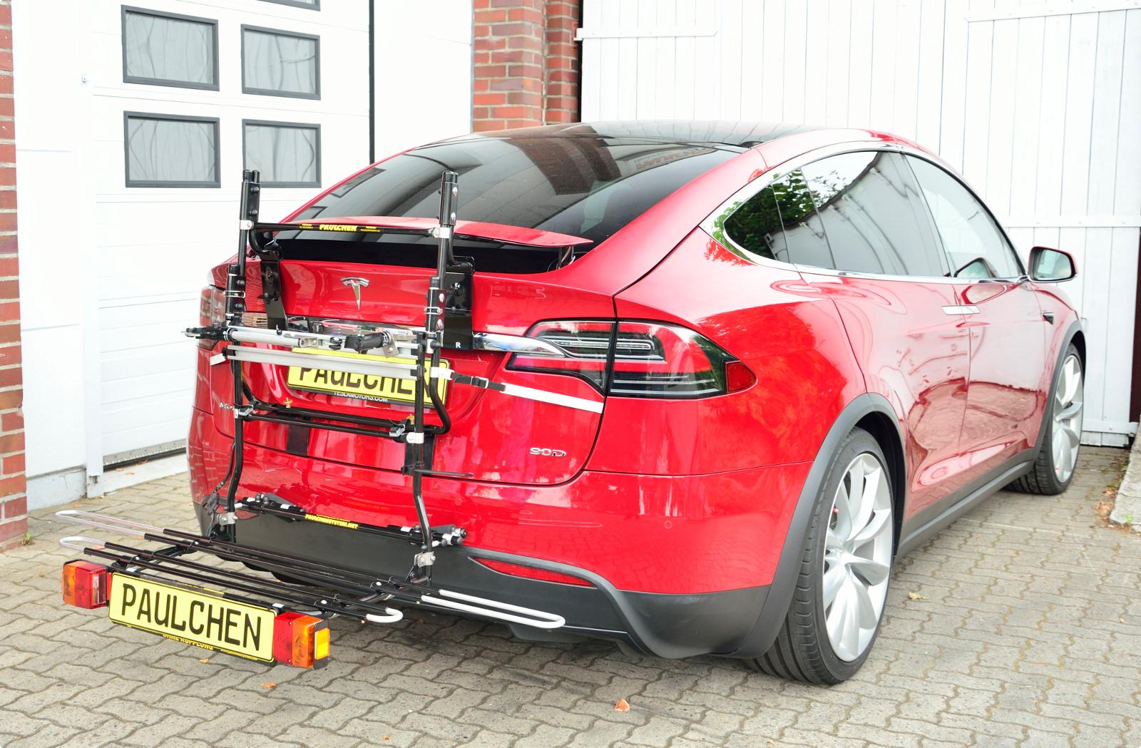 Tesla bike rack