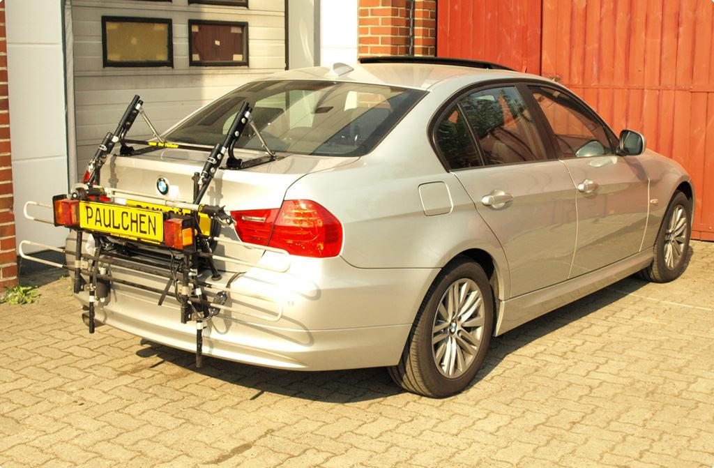 bmw 3er stufenheck facelift bike rack paulchen heck und fahrradtr ger system. Black Bedroom Furniture Sets. Home Design Ideas