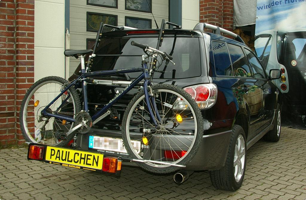 mitsubishi outlander fahrradträger am heck - paulchen heckträger