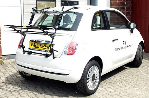 Fiat 500 Bike carrier in loading position
