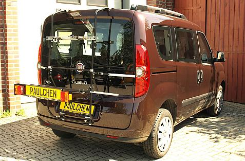 Fiat Doblo (263) Bike carrier with light bar in loading position