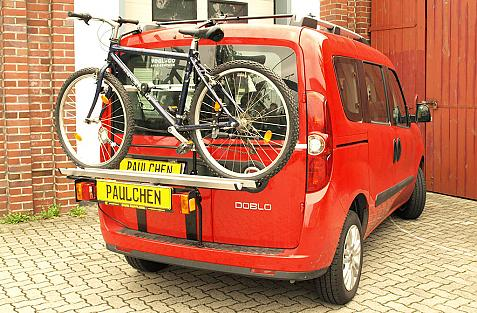 Fiat Doblo (263) Bike carrier loaded with bike