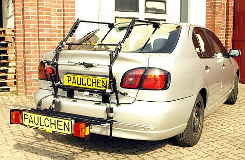 Nissan Primera Schrägheck (P11-120) Bike carrier with comfort load extension in loading position. Without trailer hitch!