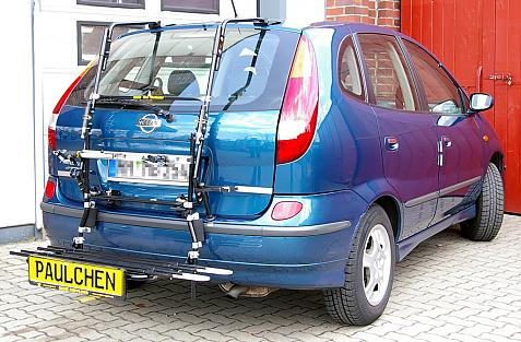 Nissan Almera Tino (V10) Bike carrier with comfort load extension in loading position. Without trailer hitch!