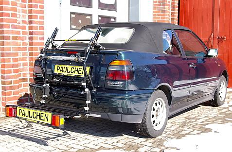 Volkswagen Golf III Cabrio (1E7) Bike carrier with comfort load extension in loading position. Without trailer hitch!