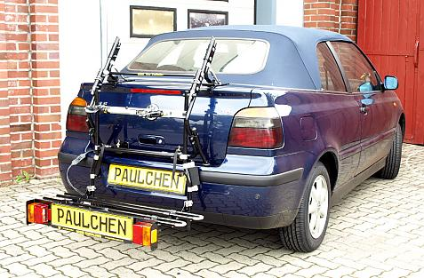 Volkswagen Golf IV Cabrio (1E7) Bike carrier with comfort load extension in loading position. Without trailer hitch!