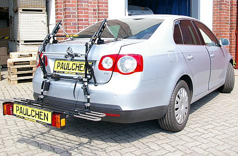 Volkswagen Jetta III Stufenheck (1K2) Bike carrier with comfort load extension in loading position. Without trailer hitch!