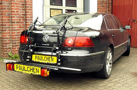 Volkswagen Phaeton (D1) Bike carrier with comfort load extension in loading position. Without trailer hitch!