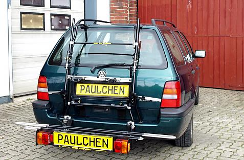 Volkswagen Golf III Variant (1H5) Bike carrier with comfort load extension in loading position. Without trailer hitch!