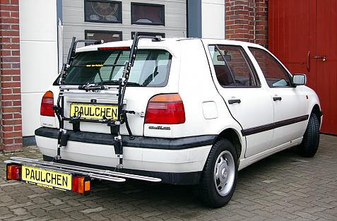 Volkswagen Golf III GT (1H1) Bike carrier with comfort load extension in loading position. Without trailer hitch!
