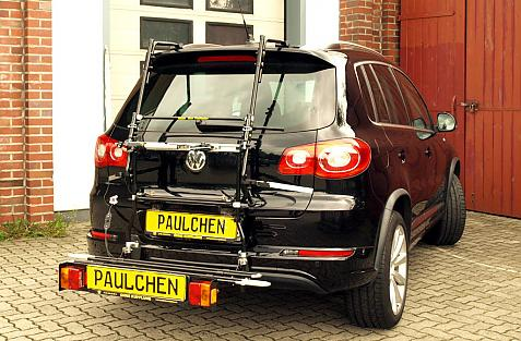 Volkswagen Tiguan R-Line Bike carrier with comfort load extension in loading position. Without trailer hitch!