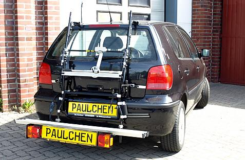 Volkswagen Polo Modell 2000 (6N2) Bike carrier with comfort load extension in loading position. Without trailer hitch!