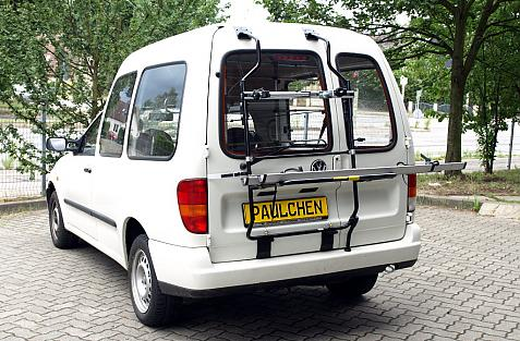Volkswagen Caddy II Bike carrier in loading position