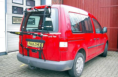 Volkswagen Caddy III Bike carrier in loading position