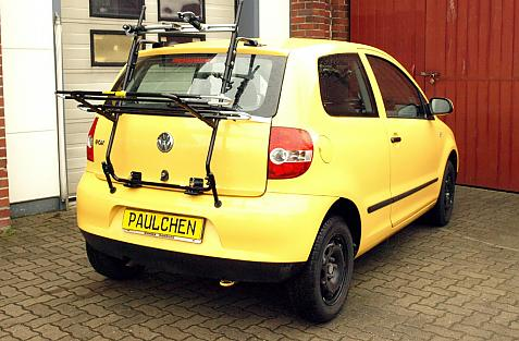 Volkswagen Fox Bike carrier in loading position