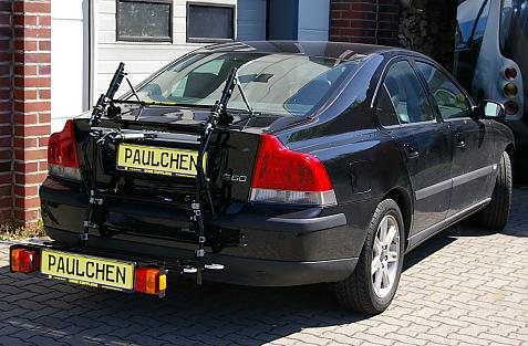Volvo S 60 Stufenheck (P24) Bike carrier with comfort load extension in loading position. Without trailer hitch!