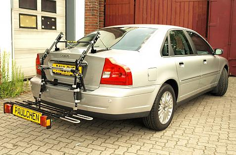 Volvo S 80 (TS) Stufenheck, Facelift Bike carrier with comfort load extension in loading position. Without trailer hitch!
