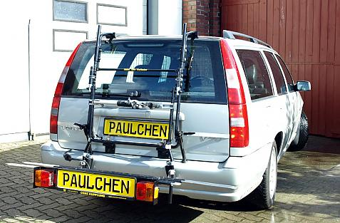 Volvo 850 / V70 Combi Bike carrier with comfort load extension in loading position. Without trailer hitch!