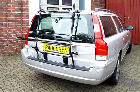Volvo V70 II Combi Bike carrier in loading position