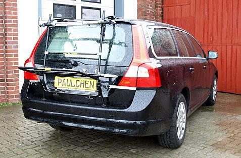 Volvo V70 III Combi / XC 70 Bike carrier in loading position