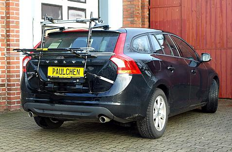 Volvo V 60 Bike carrier in loading position