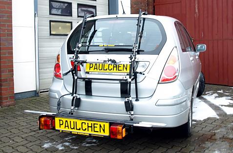 Suzuki Liana Bike carrier with comfort load extension in loading position. Without trailer hitch!