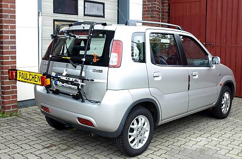 Suzuki Ignis (FH) Bike carrier with light bar in loading position