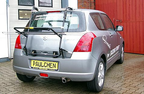 Suzuki Swift (MZ, EZ) Bike carrier in loading position