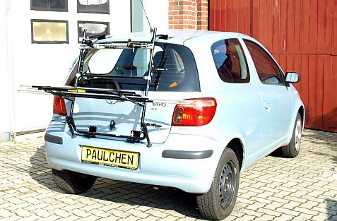 Toyota Yaris Bike carrier in loading position