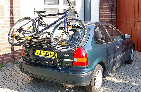 Honda Civic Steilh. (EJ) Bike carrier loaded with bike
