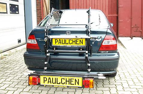 Honda Civic Schrägheck (MB9) Bike carrier with comfort load extension in loading position. Without trailer hitch!
