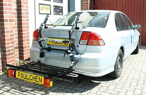 Honda Civic StH Bike carrier with comfort load extension in loading position. Without trailer hitch!